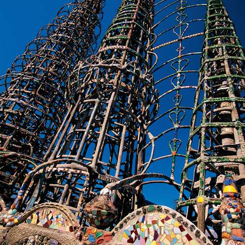 The Watts Towers of Los Angeles