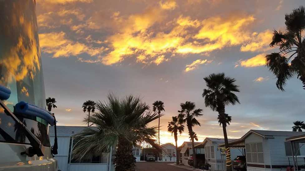 Sunset in Mesa, Arizona.