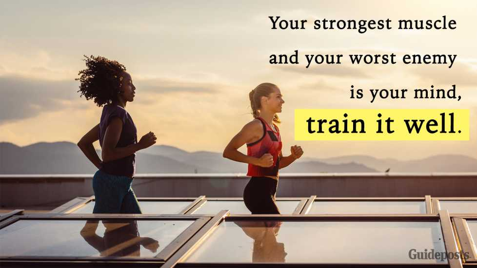 Motivational Quotes Your strongest muscle and your worst enemy is your mind, train it well better living health and wellness living longer living better