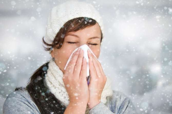 But guard us, Lord, from the first cough and the first cold.