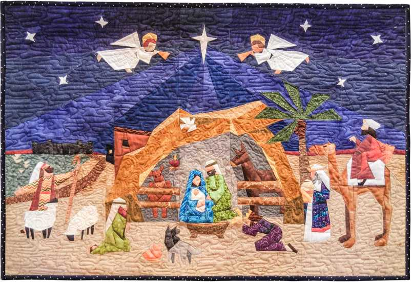 When they saw the star, they were filled with joy. They entered the house and saw the child with Mary his mother. Falling to their knees, they honored him. Then they opened their treasure chests and presented him with gifts of gold, frankincense and myrrh.