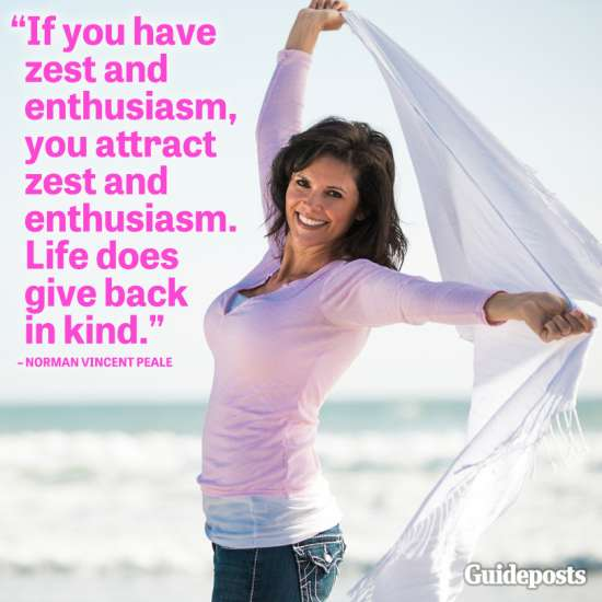 If you have zest and enthusiasm, you attract zest and enthusiasm. Life does give back in kind.--Norman Vincent Peale