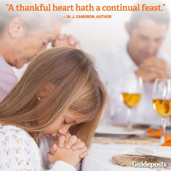 Guideposts: A thankful heart hath a continual feast.—W. J. Cameron, author