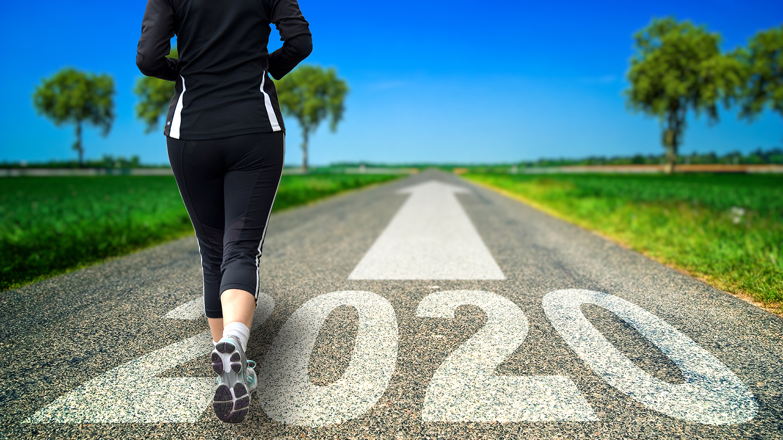 A woman sets out on a run to start the new year