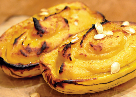 Side dish: Delicata Squash with Toasted Squash Seeds and Aleppo Pepper