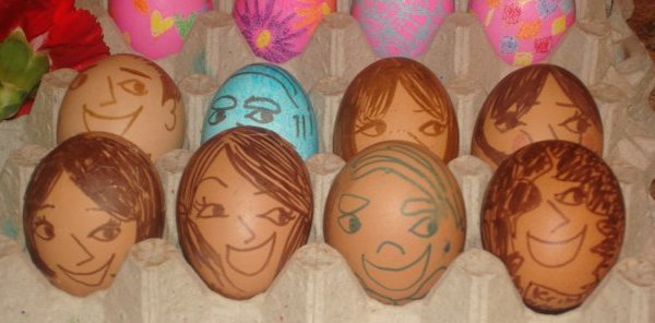 Easter eggs decorated by Diana.
