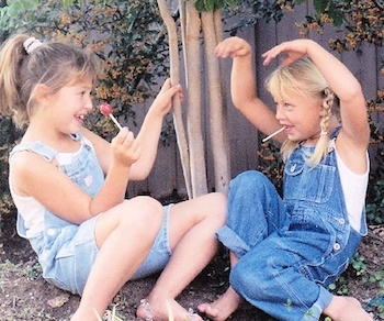 Michelle's two daughters playing when they were little girls.