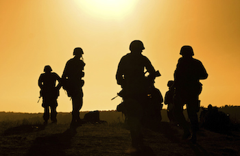 Soldiers getting battle ready. Photo by Tituz, Thinkstock.