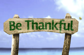 Practice being grateful all the time! Photo Gustavo Frazao, Shutterstock.