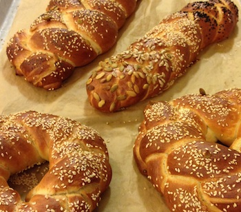 A beautiful batch of freshly baked challah.