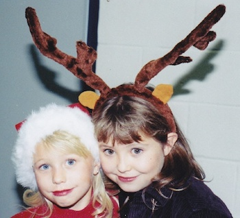 Michelle's daughters Ally and Aby as young girls.