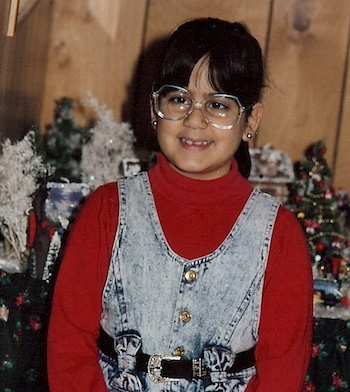 Diana Aydin as a second grader.