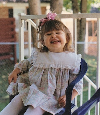 A classic Kodak moment of Michelle's daughter Abby as a little girl.