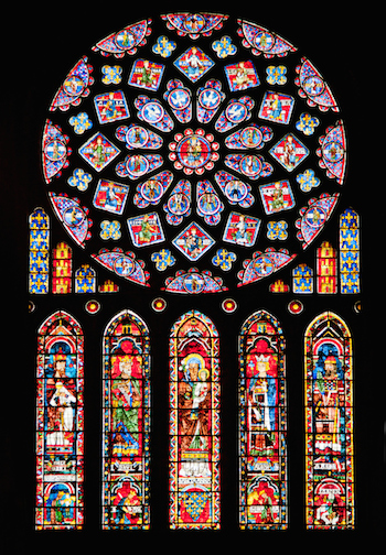 Photo of Chartres cathedral rose window by Natalia Bratslavsky, Thinkstock
