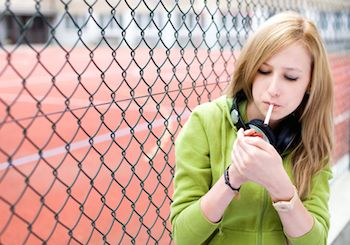 How to guide your teen daughter away from smoking. Photo from 123RF(r).