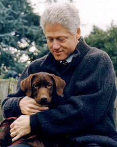 President Clinton and Buddy