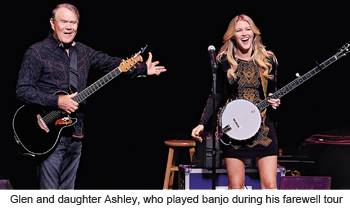 Glen's daughter Ashley played banjo during his farewell tour