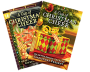 Book covers for two-volume set of A Cup of Christmas Cheer