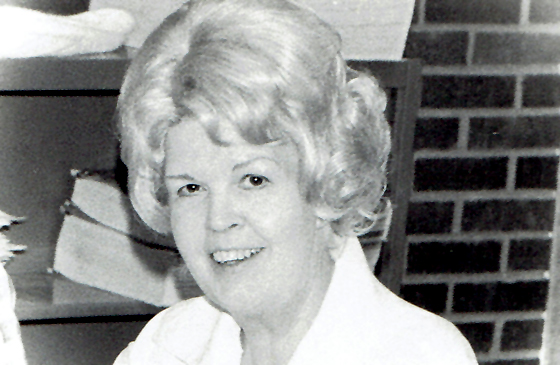 Mary Francis and her big hair in the 1970s