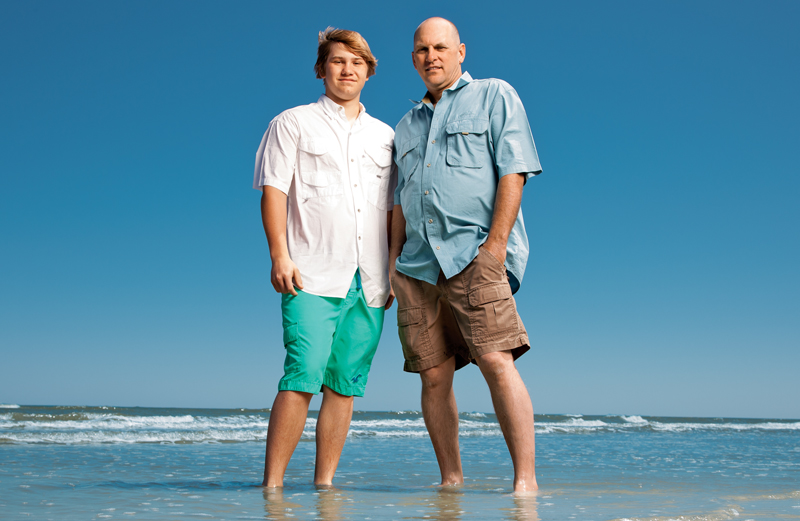 Cecil Vossler and son Nicholas