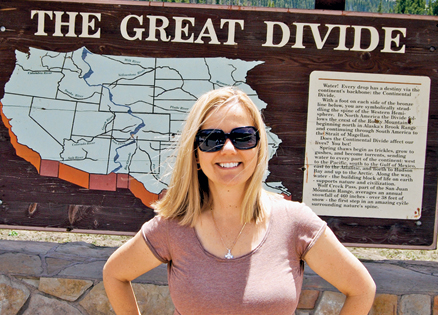Joyce Nutta at the Continental Divide