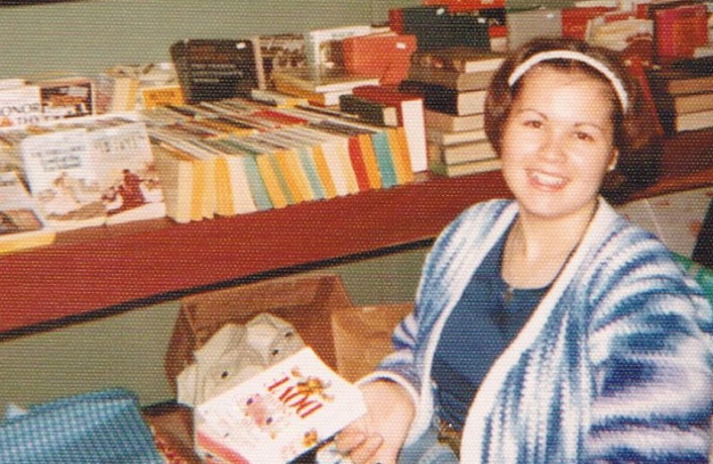 Chesapeake Antiques Mysteries author Pam Hanson as a teenager selling antiques