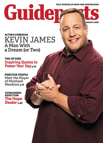 In his cover story for the March 2018 issue of Guideposts, Kevin James shares how even career success couldn't bring him the joy that he finds in the simple comforts of home.