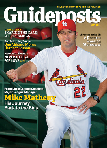 Mike Matheny on the cover of the May 2015 Guideposts
