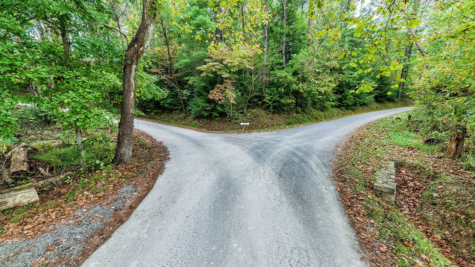 a crossroads in the country