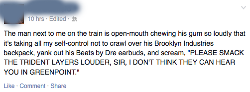 Angry Facebook post