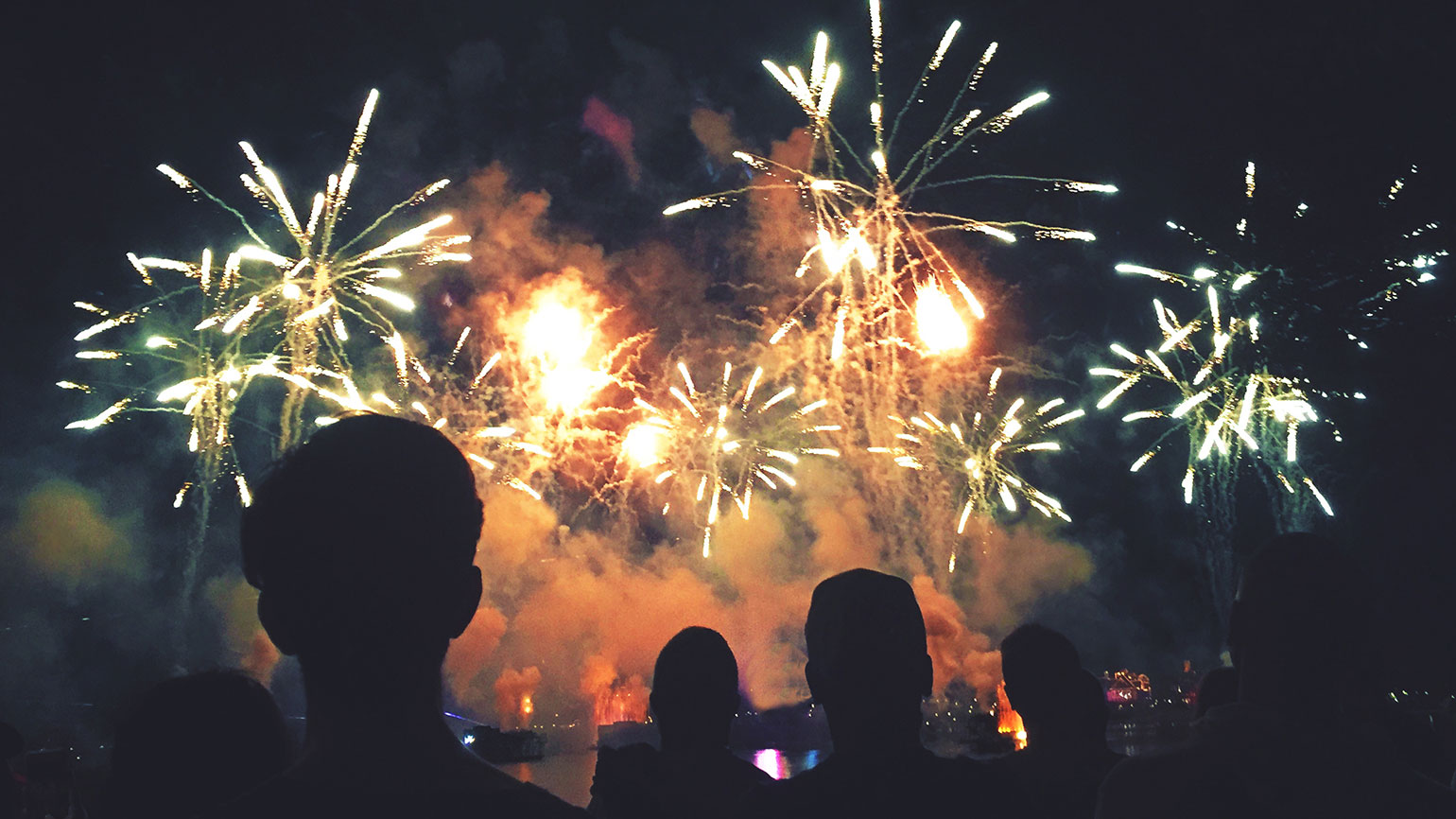 A fireworks display on Independence Day