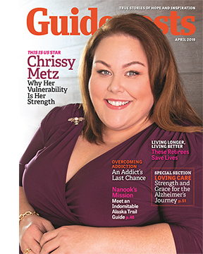Chrissy Metz on the cover of the April 2019 issue of Guideposts