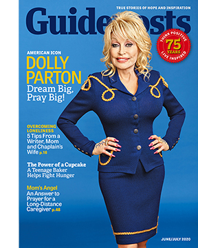 Dolly Parton on the cover of the june-July 2020 issue of Guideposts