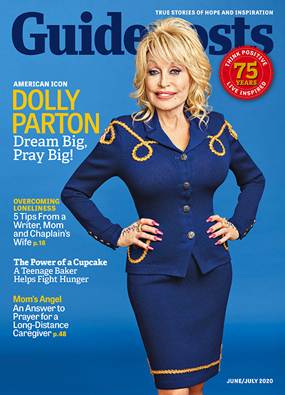 In her cover story for the June-July 2020 issue of Guideposts, country music legend Dolly Parton shares how, fueled by her unflappable faith, she has never been afraid to aim high.