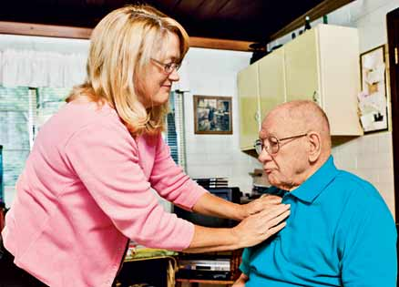 Margaret Berberich tends to her ailing father, a man she once deeply resented.