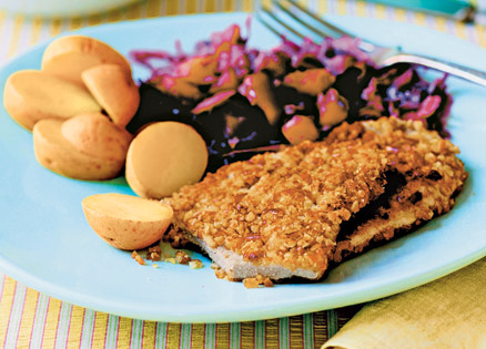 Here's a tasty heart-healthy take on Wiener schnitzel, in time for the holidays.