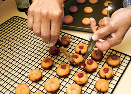 Jelly thumbprint cookies make a tasty treat for any festive occasion.