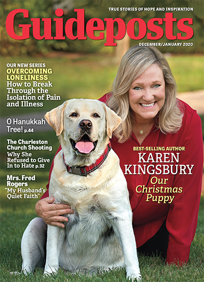 In her cover story for the December-January 2020 issue of Guideposts, bestselling author Karen Kingsbury shares how she and her husband came to take in a new puppy, just in time for Christmas.
