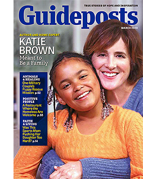 Katie Brown and daughter Meredith on the cover of the March 2020 Guideposts