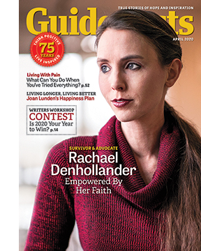 Rachael Denhollander on the cover of the April 2020 issue of Guideposts