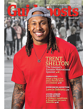 Trent Shelton on the cover of the August 2019 issue of Guideposts