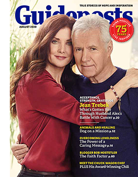 Jean and Alex Trebek on the cover of the August 2020 Guideposts