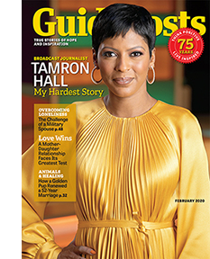 Tamron Hall on the cover of the February 2020 issue of Guideposts