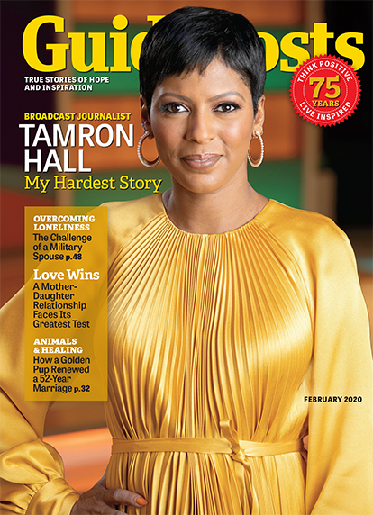 In her cover story for the February 2020 issue of Guideposts, journalist and broadcaster Tamron Hall shares how she came to work on behalf of victims of domestic violence.