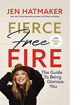 The book cover for Fierce, Free, and Full of Fire: The Guide to Being Glorious You