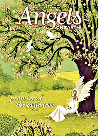The cover of the July-August 2020 issue of Angels on Earth magazine