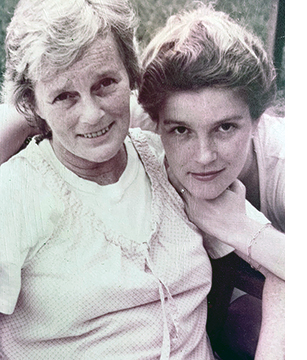 Kate with her mother, Joan