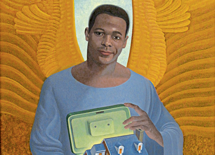 An artist's rendering of a mortgage angel