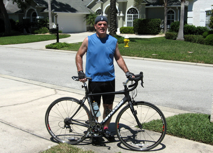 Steve Sparks rides for a cure