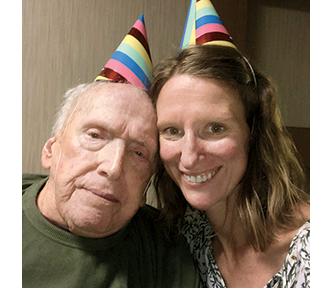 Mary with Bill on his 97th birthday